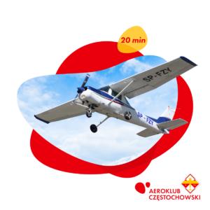Lot zapoznawczy samolotem 20 min - Aeroklub Częstochowski