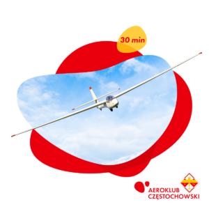 Lot zapoznawczy szybowcem za samolotem 30 min